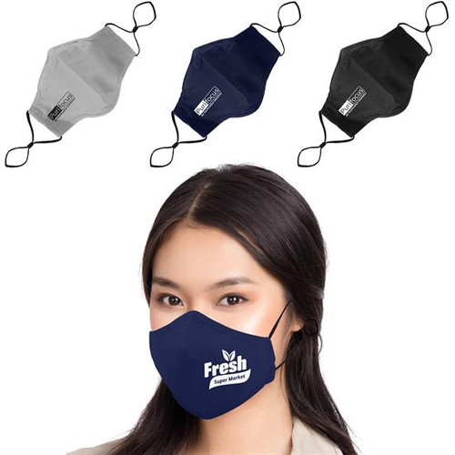 3 Ply Cotton Fitted Mask + Filter-RFM3L