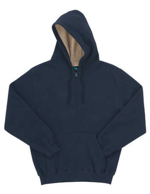 Fleece Thermal Lined Full Zipper Hooded Sweatshirt-697