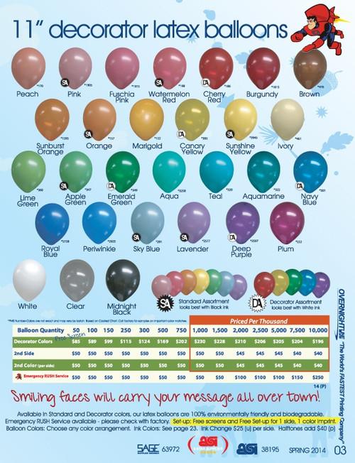 "11""  Latex Balloons - 63972-2"