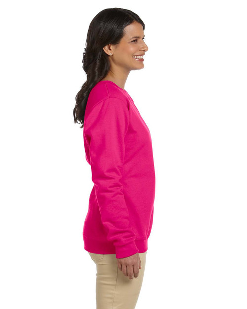 Add Your Logo to Gildan - Heavy Blend Ladies 8 oz. 50/50 Fleece Crew Sweatshirt - G180FL