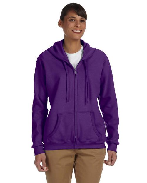 Add Your Logo to Gildan - Heavy Blend Ladies 8 oz. 50/50 Full-Zip Hoodie - G186FL
