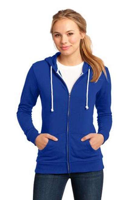 Add Your Logo to District - Juniors Core Fleece Full-Zip Hoodie - DT290