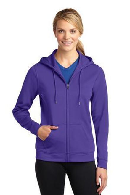 Add Your Logo to Sport-Tek - Ladies Sport-Wick Fleece Full-Zip Hooded Sweatshirt - LST238