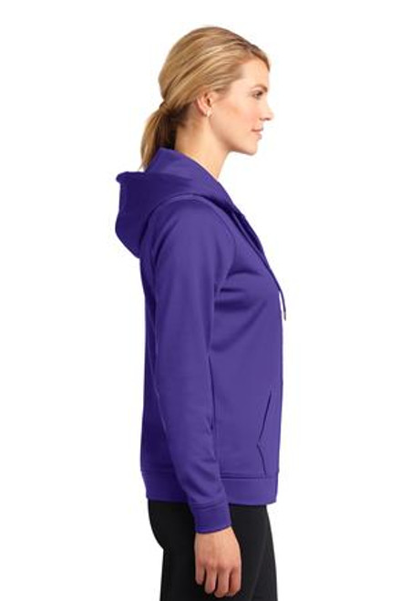 Add Your Logo to Sport-Tek - Ladies Sport-Wick Fleece Full-Zip Hooded Sweatshirt - LST238