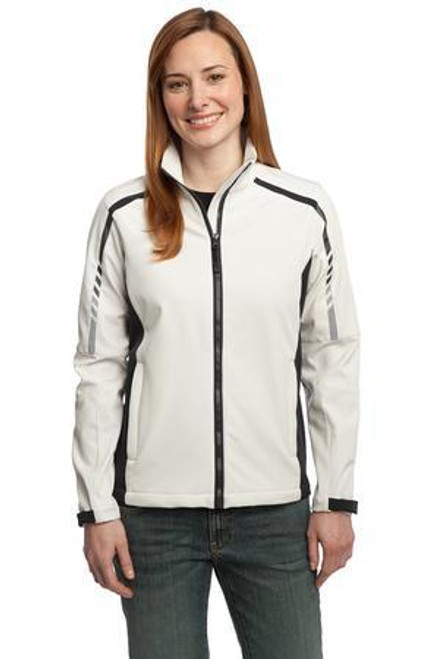 Add Your Logo to Port Authority - Ladies Embark Soft Shell Jacket - L307