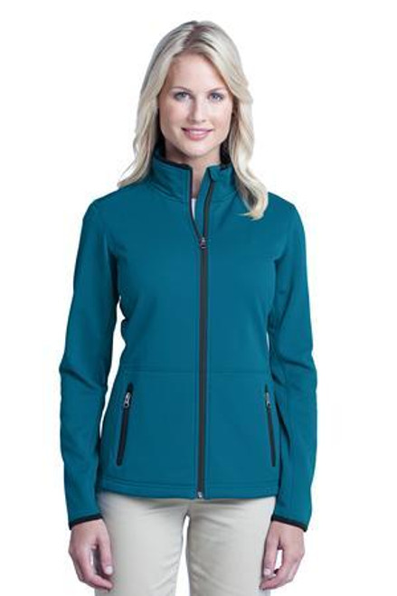 Add Your Logo to Port Authority - Ladies Pique Fleece Jacket - L222