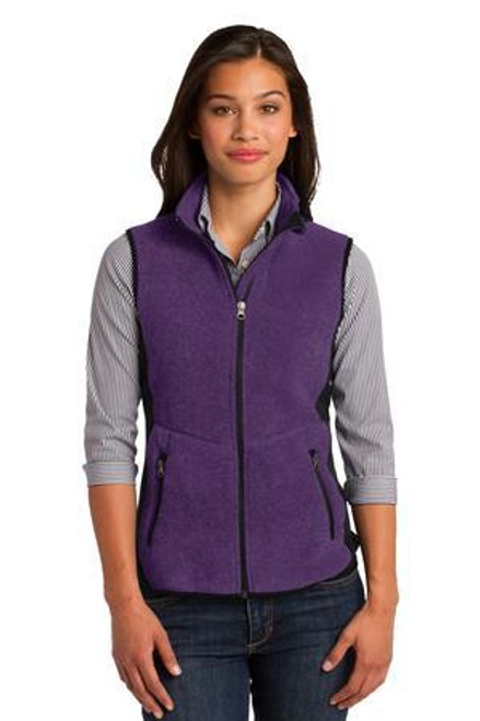 Add Your Logo to Port Authority - Ladies R-Tek Pro Fleece Full-Zip Vest - L228