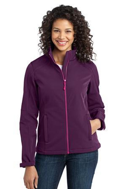 Add Your Logo to Port Authority - Ladies Traverse Soft Shell Jacket - L316