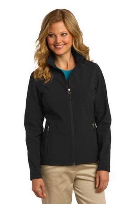 Add Your Logo to Port Authority - Ladies Core Soft Shell Jacket - L317