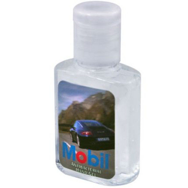 This 0.5 oz. bottle contains hypoallergenic hand sanitizer gel, which consists of 65% alcohol and a subtle scent to effectively kill germs, while simultaneously giving off a refreshing smell. An ideal promotional product for schools, health clinics, cold and flu season promotions, pharmaceutical companies and much more. Customize each bottle with an imprinted brand name or logo and hand them out at your next event. This product is FDA approved.