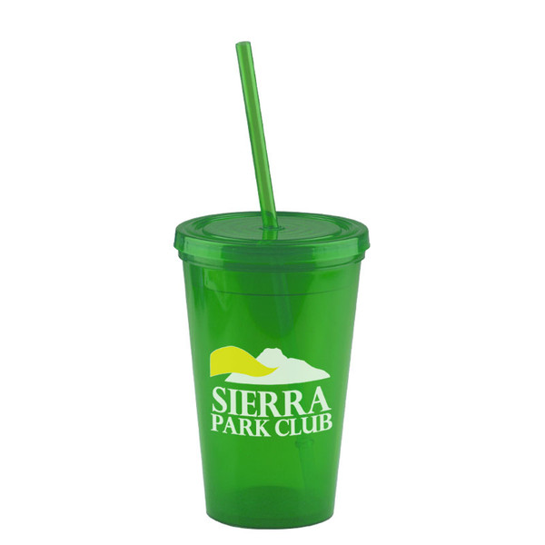 The Pioneer - 16 oz. Insulated Straw Tumbler - TCP16