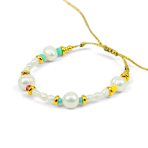 Boho Style, Colourful, Mother of Pearl Bracelet