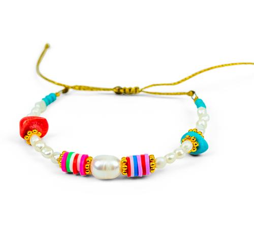 Boho Style, Colourful Beads, Summer Bracelet