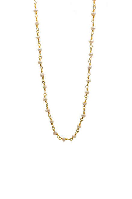 Rosary Necklace in Gold Plated Silver