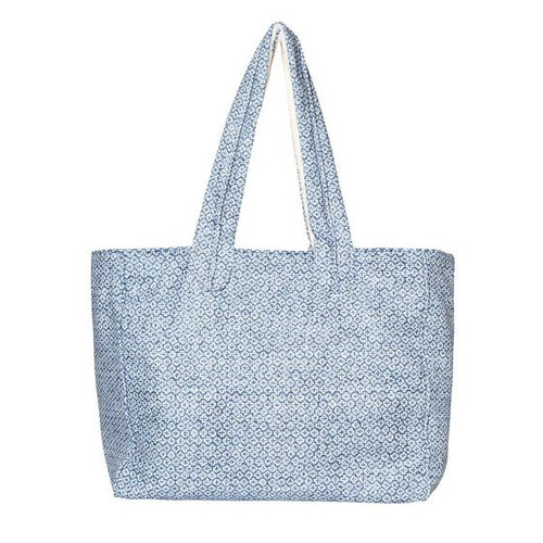 Patmos Premium Cotton Beach Bag  in Baby Blue