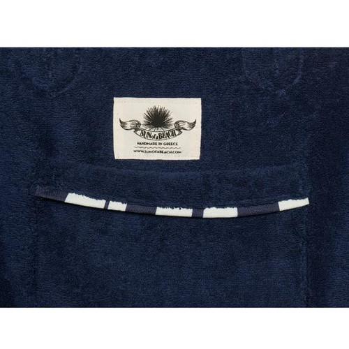 Cycladic Tiles  Premium Cotton Beach Bag in Blue & White