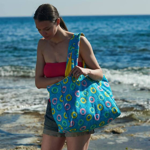 Splash Premium Cotton Beach Bag in Blue