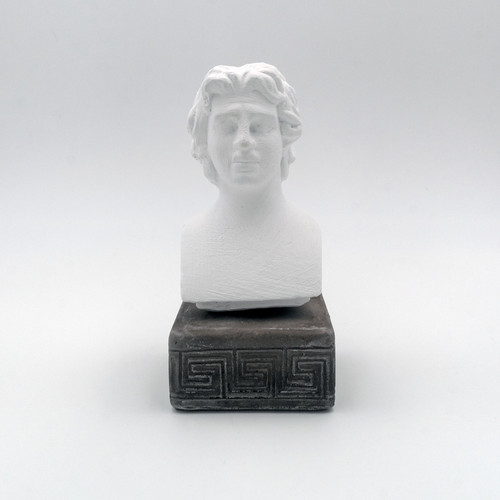 Front Picture of Alexander the Great Coloured Figurine in White