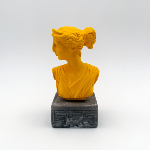 Front image of Artemis Coloured Figurine in yellow
