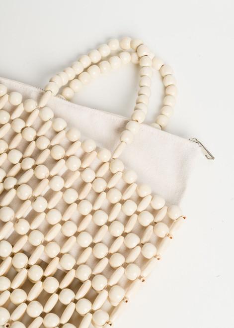 Handbag in Egg White with Internal Lining