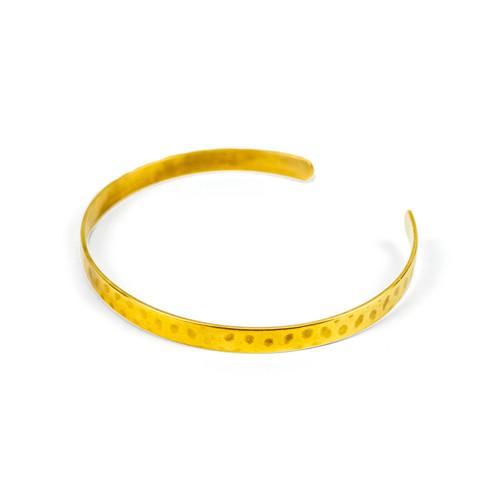 Cleopatra the Forged, 18K Gold Bangle Bracelet