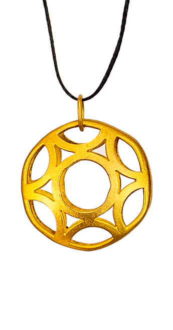 Geometric Circle, Small Sized Pendant in gold-plated silver