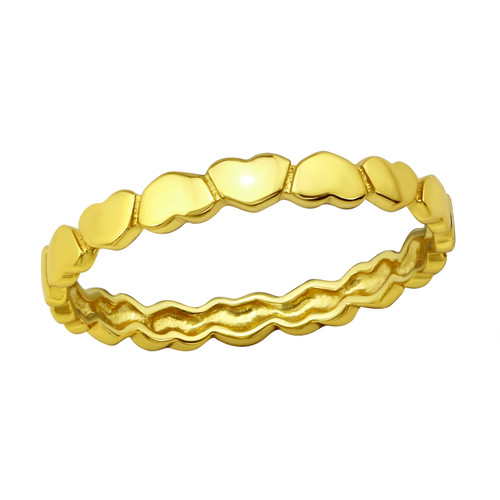 Heart Ring, in Gold Plated Silver