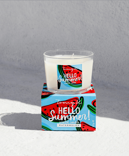 Hello Summer  Watermelon Scented Candle