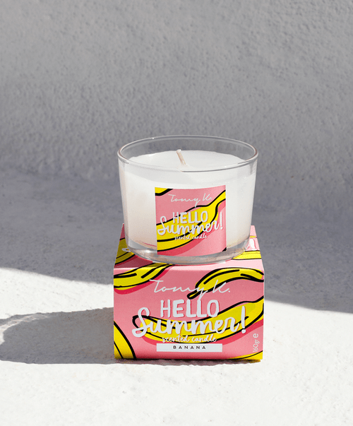 Hello Summer Banana Scented Candle