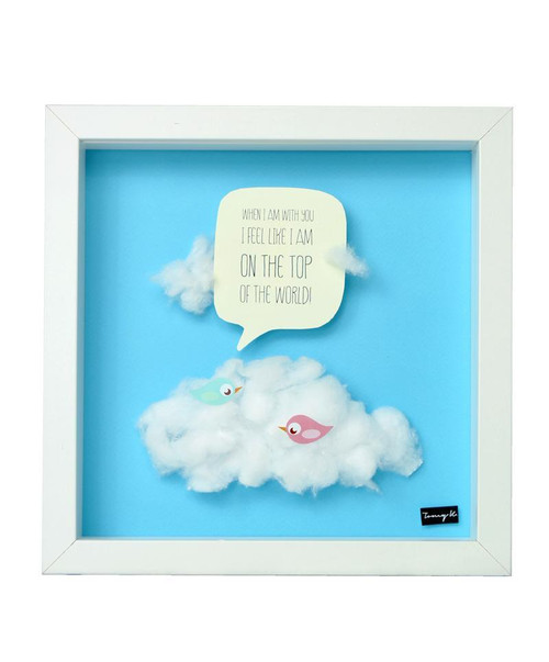 On the top of the world, Handcrafted Artwork, Wooden Frame
