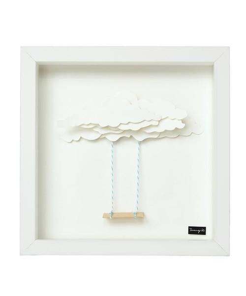 Swing, Handcrafted Artwork, Wooden Frame