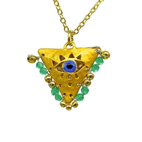 """Mint Green """"Fylachto"""" Talisman Pendant"""