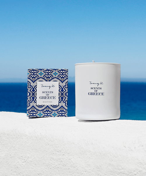 Mastiha Scented Candle, in White