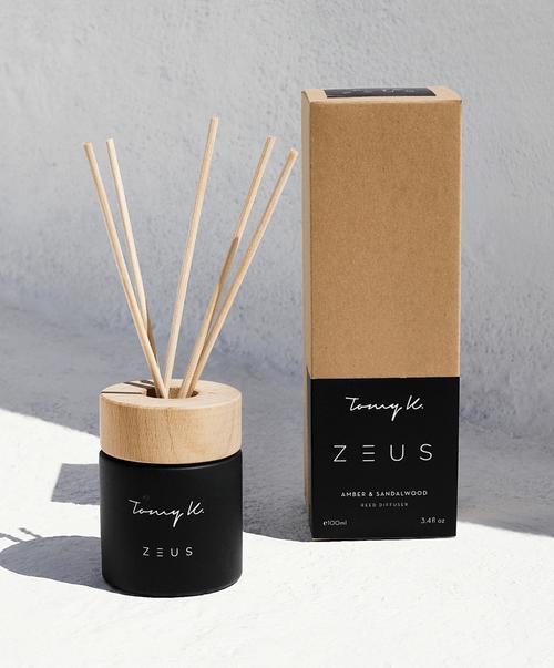 """""""Zeus"""" Firewood diffuser, in Black"""