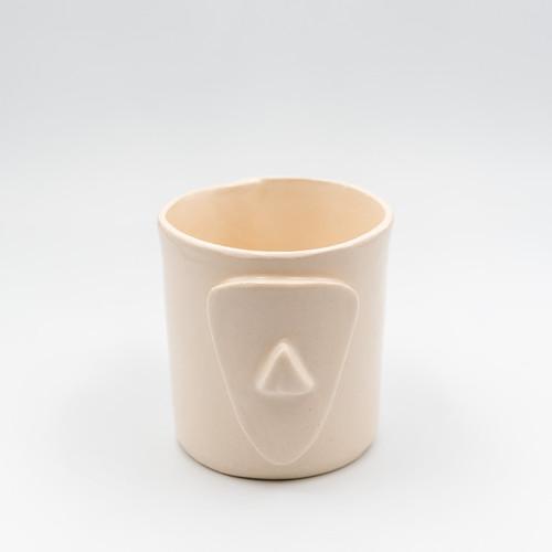 Cycladian Style, Short Ceramic Mug in Ivory