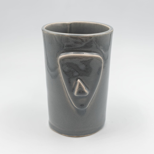 Cycladian Style, Large Ceramic Mug in Mineral Gray