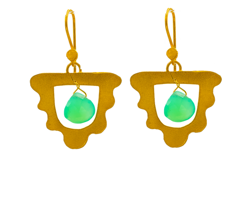 Cleopatra the Bohemian, Earrings, in Gold Plated Silver