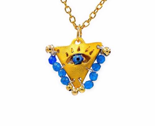 "Aegean Blue ""Fylachto"" Talisman Pendant"