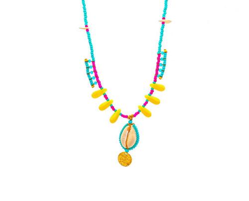 Boho Style, Turquoise, Shell Necklace