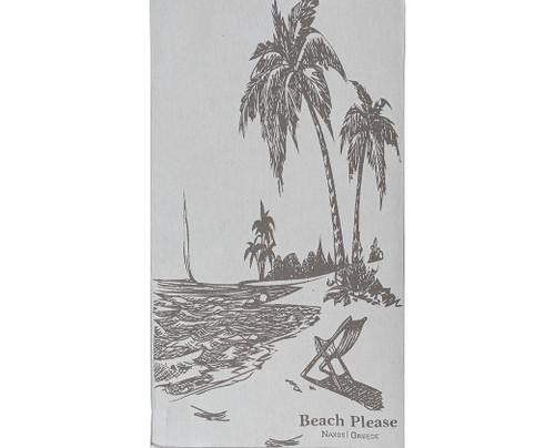 Tropical Beach, Premium Cotton Beach Towel