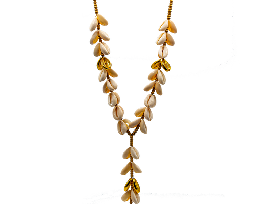 Gold Sea Shell, X-Large Size Necklace, Adjustable
