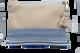 NEPHELAE Jute Zipper Pouch Bag, in Blue