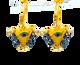 """Limited: Jet Black """"Fylachto"""" Talisman Earrings"""