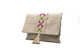 IRIS, Jute Envelope Clutch Bag, Embroidered