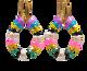 Boho Style, Colourful, Hoop Earrings