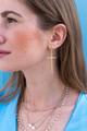 24K Gold Cross Earrings