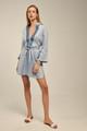 Ione Kaftan, Linen Dress in Baby Blue