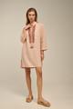 Ione Kaftan, Linen Dress in Champagne Pink
