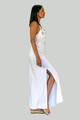 Amphitrite Maxi Dress in White, Embroidered