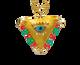 "Viridian Green and Coral ""Fylachto"" Talisman Pendant"